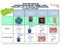 Programme Activités TAP Période 4