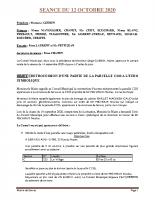 SEANCE DU 12 OCTOBRE 2020 COMPTE RENDU