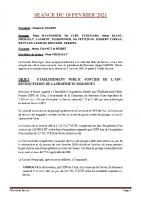SEANCE DU 18 FEVRIER 2021 COMPTE RENDU