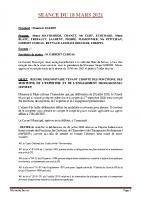 SEANCE DU 18 MARS 2021 COMPTE RENDU