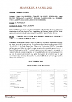 SEANCE DU 8 AVRIL 2021 COMPTE RENDU