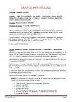 SEANCE DU 6 MAI 2021 COMPTE RENDU