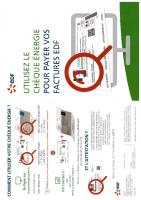Chèque Energie Brochure EDF