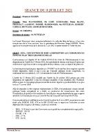 SEANCE DU 8 JUILLET 2021 COMPTE RENDU